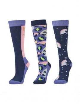 Dublin-3-Pack-Socks-Blueberry-Navy-Leopard on sale
