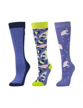 Dublin-3-Pack-Socks-Lavender-Leopard on sale