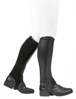 Dublin-Elite-Leather-Half-Chap-Black on sale