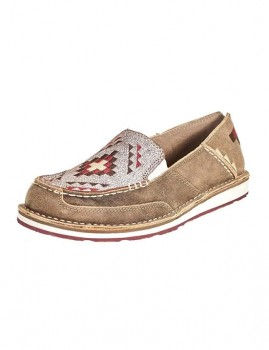 Ariat-Womens-Cruiser-Shoe-Deco-Brown-BomberCrackled-Wht on sale