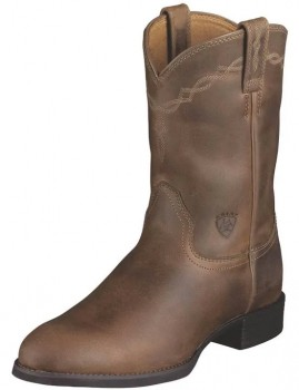 Ariat-Mens-Heritage-Roper-Boots-Distressed-Brown on sale