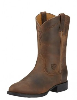Ariat-Womens-Heritage-Roper-Boots-Distressed-Brown on sale