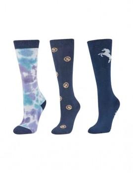Dublin-3-Pack-Socks-Blueberry-Navy-Horseshoe-Dots on sale