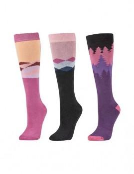 Dublin-3-Pack-Socks-Red-Violet-Sunset on sale