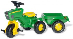 John-Deere-Rolly-Pedal-Trike-and-Trailer on sale