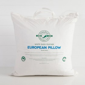 White-Duck-Feather-European-Pillow-by-Greenfirst on sale
