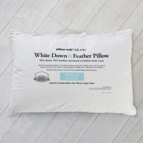White-Duck-FeatherDown-Surround-Pillow-by-Pillow-Talk-Naturals on sale