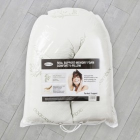 V-Shaped-Pressure-Relief-Memory-Foam-Pillow-by-Sensational on sale