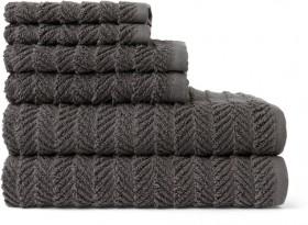 Heritage-Herringbone-Towel-Bundle-in-Dark-Coal on sale
