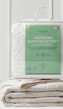 Heritage-Australian-Superfine-Cotton-Mattress-Protector on sale