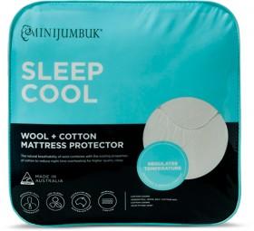 MiniJumbuk-Sleep-Cool-Wool-and-Cotton-Mattress-Protector on sale