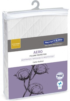 Protect-A-Bed-Aero-Cotton-Quilted-Waterproof-Pillow-Protector on sale