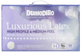 Dunlopillo-Luxurious-Latex-Standard-Pillow-in-High-Profile-and-Medium-Feel on sale