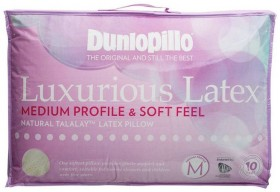 Dunlopillo-Luxurious-Latex-Standard-Pillow-in-Medium-Profile-and-Soft-Feel on sale