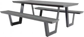 Manhattan-6-Seater-Aluminium-Polywood-Bench-Set on sale