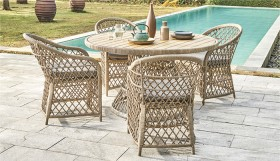Congo-4-Seater-Round-Wicker-Dining-Setting on sale