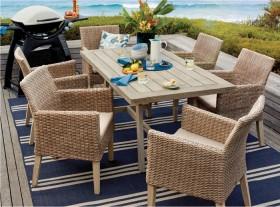 Aruba-6-Seater-Timber-Wicker-Dining-Setting on sale