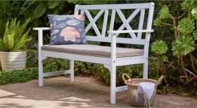 Hamptons-2-Seater-Timber-Bench on sale