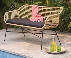 Cayman-Wicker-Bench-Seat on sale