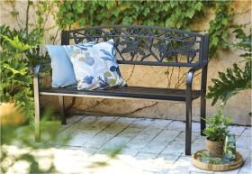Cornwell-2-Seater-Steel-Bench on sale