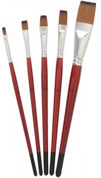 5-Pack-Flat-Taklon-Paintbrushes on sale