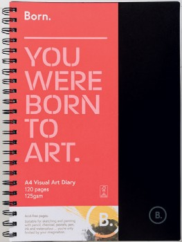 Born-A4-120-Page-Visual-Art-Diary on sale