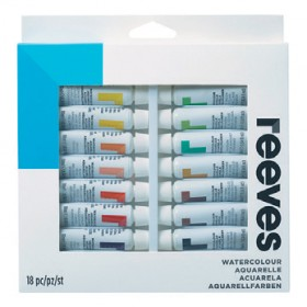 Reeves-Watercolour-Paint-Set-12mL-18-Pack on sale