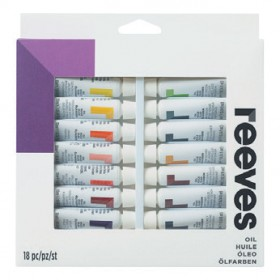 Reeves-Oil-Colour-Paint-Set-12mL-18-Pack on sale