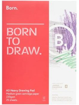 Born-A3-220gsm-Heavy-Drawing-Pad on sale