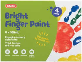 Kadink-4-Pack-Finger-Paint-100mL-Bright on sale