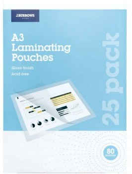 JBurrows-25-Pack-A3-Laminating-Pouches on sale