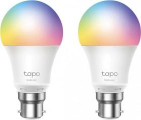TP-Link-Tapo-Smart-Colour-Light-Bulb-2-Pack-B22 on sale