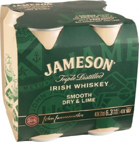 Jameson-Smooth-Dry-Lime-63-Premix-Cans-375mL-4-Pack on sale