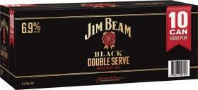 Jim-Beam-Black-Double-Serve-69-Premix-Cans-375mL-10-Pack on sale