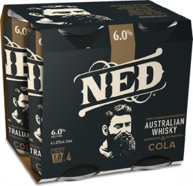 NED-Whisky-Cola-6-Premix-Cans-375mL-4-Pack on sale