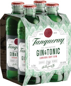 Tanqueray-Gin-Tonic-53-Premix-Bottles-275mL-4-Pack on sale