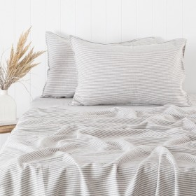Stripe-Linen-Cotton-Sheet-Set-by-Habitat on sale