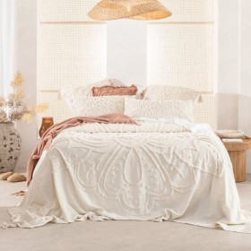 Amal-Cream-Bed-Cover-Set-by-Habitat on sale