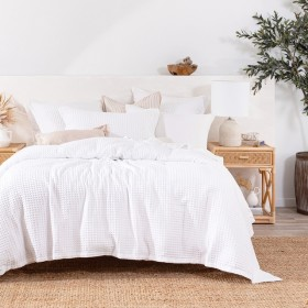 Chunky-Waffle-White-Quilt-Cover-Set-by-MUSE on sale