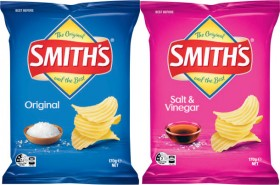 Smiths-Crinkle-Cut-Potato-Chips-150g-170g-or-Poppables-90g on sale