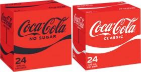Coca-Cola-Soft-Drink-24x375mL on sale
