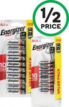 Energizer-Max-AA-Pk-16-or-AAA-Pk-14 on sale