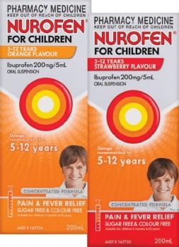 Nurofen-For-Children-5-12-Years-Orange-or-Strawberry-Flavour-200mL on sale