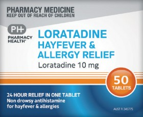 Pharmacy-Health-Loratadine-Hayfever-Allergy-Relief-50-Tablets on sale