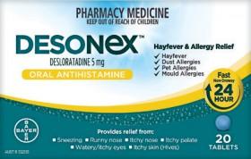 Desonex-Hayfever-Allergy-Relief-20-Tablets on sale