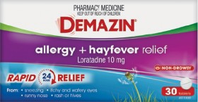Demazin-Allergy-Hayfever-Relief-30-Tablets on sale