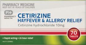 Pharmacy-Health-Cetirizine-Hayfever-Allergy-Relief-70-Tablets on sale