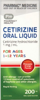 Pharmacy-Health-Cetirizine-Oral-Liquid-1-12-Years-200mL on sale