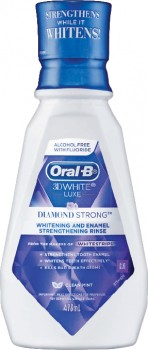 Oral-B-3D-White-Luxe-Diamond-Strong-Mouthwash-473mL on sale