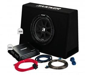 Kicker-10-Subwoofer-in-Slim-Enclosure-Plus-Amplifier-Wiring-Kit on sale